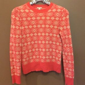 🍁🍁Gap xs coral and cream sweater